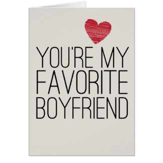 You're My Favourite Boyfriend Funny Love Card