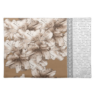 You're My Inspiration Coffee Brown Flower + Color Placemats