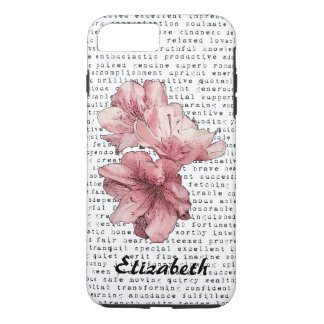 You're My Inspiration Words Typography Pink Flower iPhone 7 Plus Case