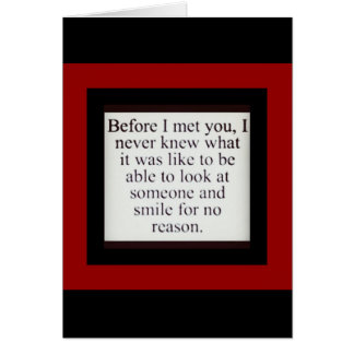 You're my reason to smile card