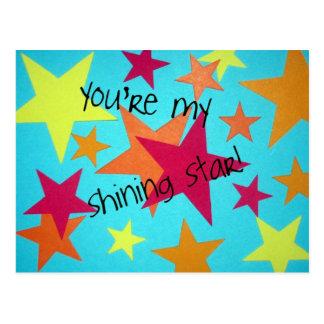You're my shining star! postcard