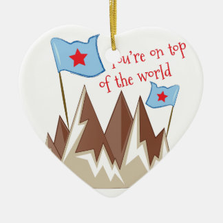Youre On Top Ceramic Heart Ornament