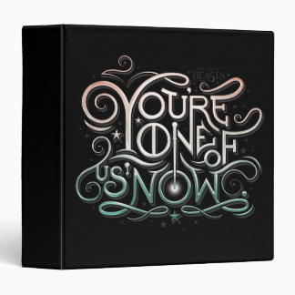 You're One Of Us Now Colorful Graphic Vinyl Binders
