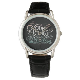You're One Of Us Now Colorful Graphic Wristwatches