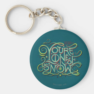 You're One Of Us Now Green Graphic Basic Round Button Keychain