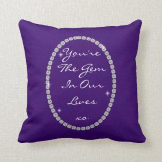 You're Our Gem DIAMOND Purple DESIGN Pillow