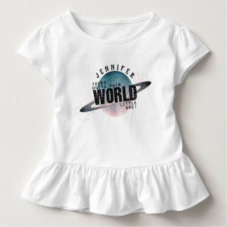 You're Out of This World Personalized Girl's Name Toddler T-shirt