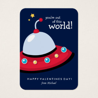 You're Out of This World Valentine Business Card