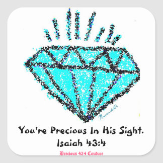 You're Precious Sticker - Turquoise/Pink/Black