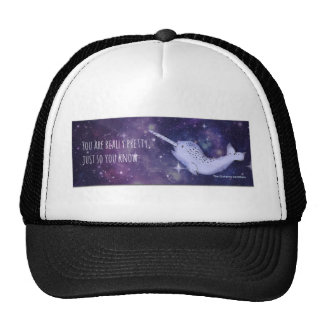 """You're Really Pretty"" Narwhal Trucker Hat"