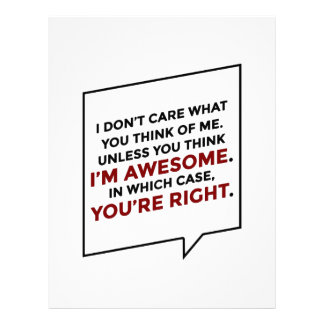 You're Right I'm Awesome Letterhead