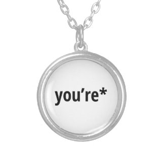 you're silver plated necklace