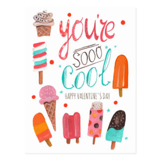 You're So Cool | Valentine | Classroom Postcard