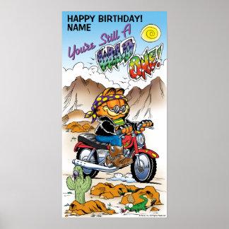 """You're Still A Wild One"" Garfield Birthday Poster"
