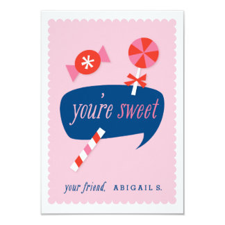 "You're sweet classroom valentine 3.5"" x 5"" invitation card"
