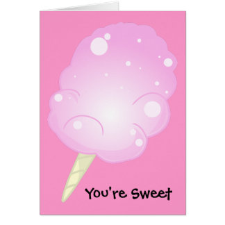 You're Sweet Cotton Candy Card