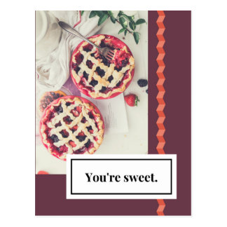 You're Sweet Love Postcard