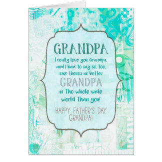 You're the Best Grandpa Father's Day Card