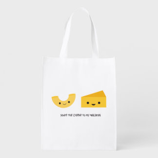 You're the Cheese to my Macaroni Reusable Bag Market Totes