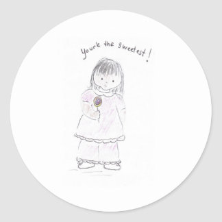 You're_the_sweetest Round Sticker