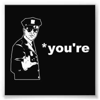 You're Your Grammar Police Art Photo