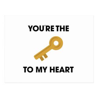 YoureThe Key To My Heart Postcard