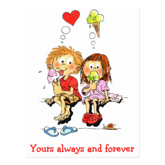 Yours Always And Forever Funny Valentines Cards Postcard