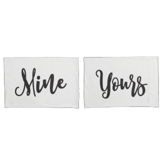 Yours and Mine Pair of Pillowcases
