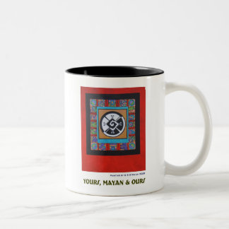 Yours, Mayan & Ours Z Two-Tone Coffee Mug