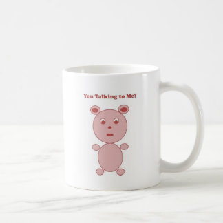 YouTalking to ME Pink Bear Classic White Coffee Mug