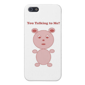 YouTalking to ME Pink Bear Cases For iPhone 5