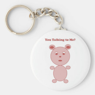 YouTalking to ME Pink Bear Keychain