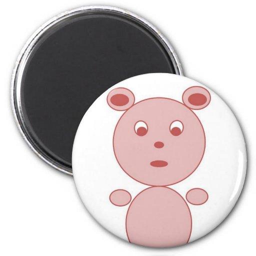 YouTalking to ME Pink Bear Fridge Magnet