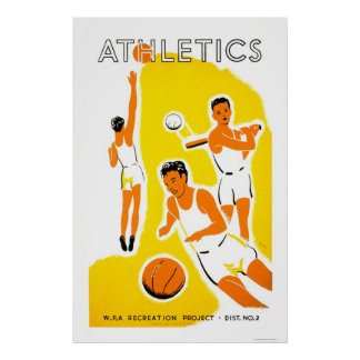 Youth Athletics Project 1939 WPA Poster