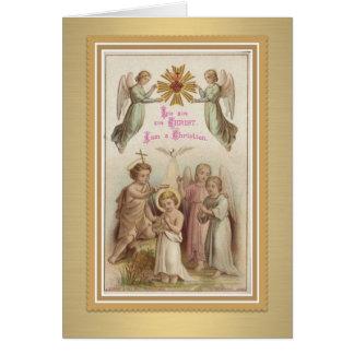Youth Baptism w/Jesus, John the Baptist, Angels Card