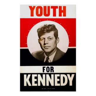 Youth for President John F. Kennedy Poster