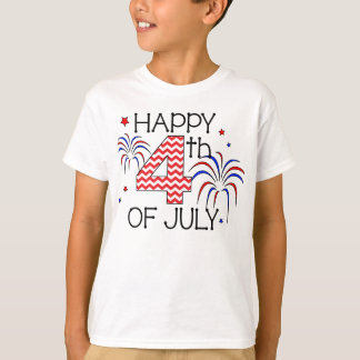 Youth Happy 4th of July T-Shirt
