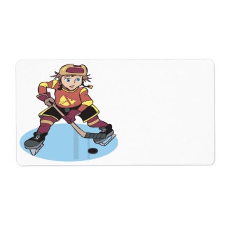 Youth Hockey Personalized Shipping Label