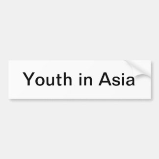 Youth in Asia bumper sticker