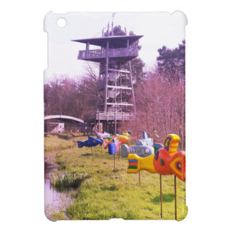 youth park wooden tower and flying wooden fishes iPad mini cases