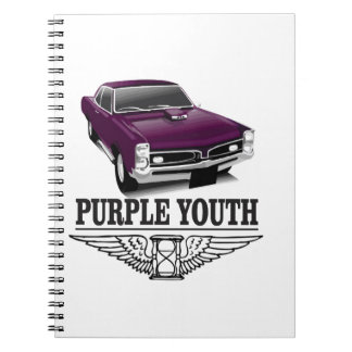 youth purple ride note books
