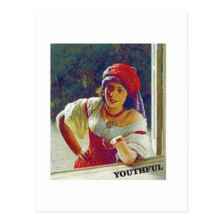 youthful love postcard