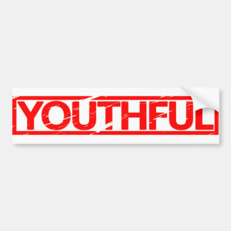 Youthful Stamp Bumper Sticker