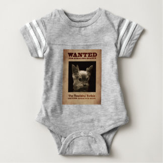 Youthful Yorkie_ Baby Bodysuit
