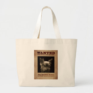 Youthful Yorkie_ Large Tote Bag