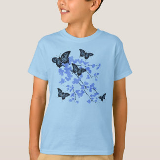 Youths Blue Butterfly T-Shirt