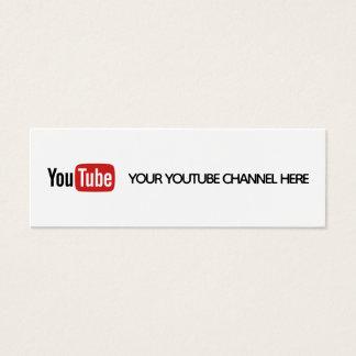 youtube social media trendy business card