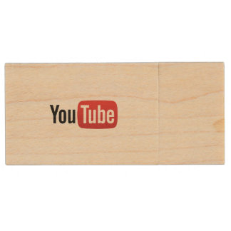 YouTube USB Wood USB Flash Drive