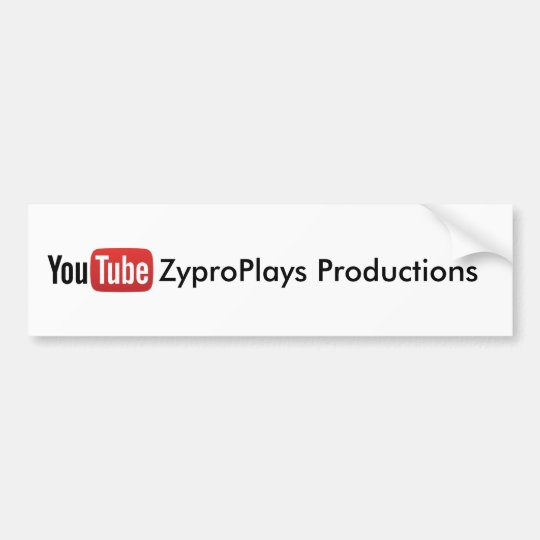 YouTube ZyproPlays Productions Sticker