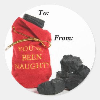 You've Been Naughty Bag of Coal Gift Tags